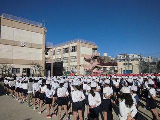 体育朝会: 梅田小学校